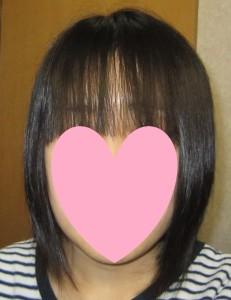 前髪のみ セルフ 縮毛矯正