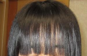 自宅でセルフで前髪のみ縮毛矯正
